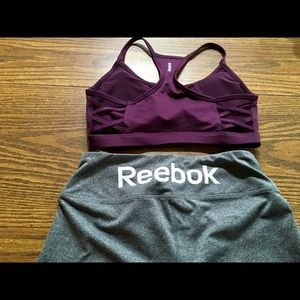 Reebok/ bundle / leggings and bra top/ small